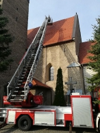 Naprawa dachu w Kościele